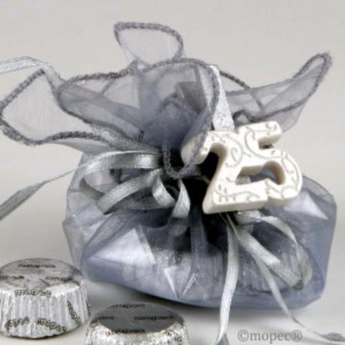Regalos 25 aniversario bombones bodas de plata - Decoracion para bodas de plata ...