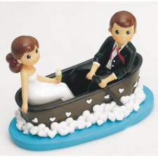 Figuras tarta boda originales grabadas novios BAÑERA