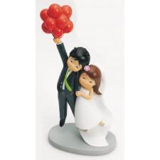 Figuras tarta boda originales grabadas novios GLOBOS