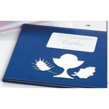 Libro de firmas para comunión GRABADO azul