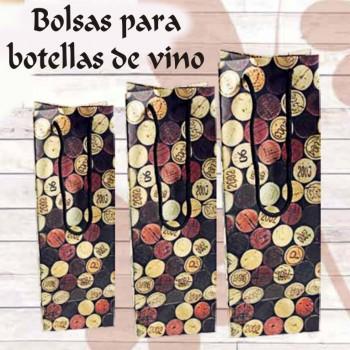Bolsas para botellas de vino boda 1/5L de 18,7cl