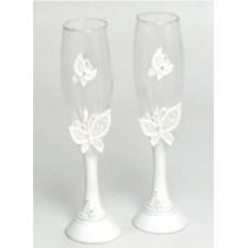 Copas de champán boda mariposas