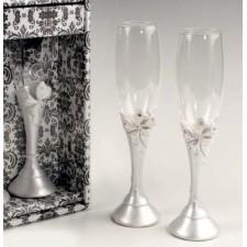 Copas de champagne boda lazo