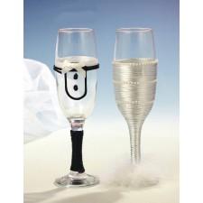 Copas de champan novios boda NOVIO-NOVIA