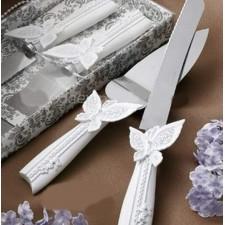 Cuchillos tarta boda GRABADOS mariposa