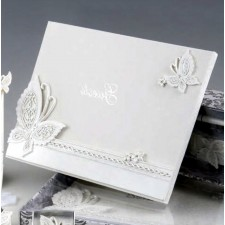 Libro de firmas GRABADO mariposas