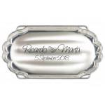 Bandeja GRABADA para arras o anillos de boda 1