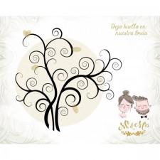 Árbol de huellas para boda + tintas