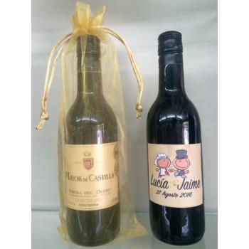 Botellita vino RIBERA 18,7cl ( Mayor de Castilla )