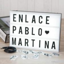 Caja de luz para decorar tu boda