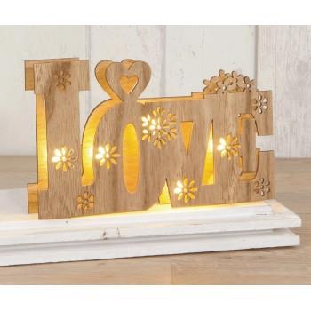Decoración boda LOVE letras madera