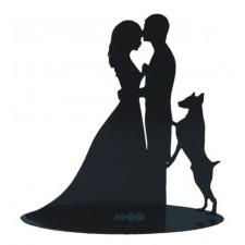 Figura tarta boda novios con perro