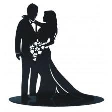 Figurita metalica para tarta de boda