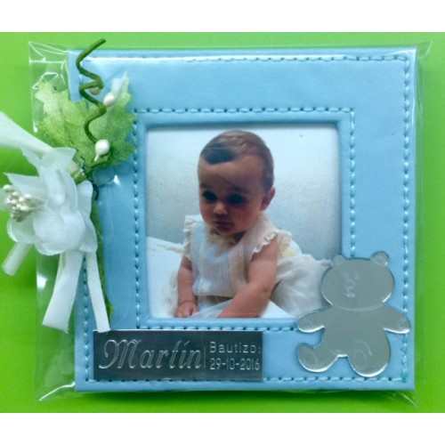 Portafotos bautizo grabado azul - Marcos fotos baratos ...