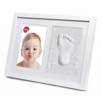 Portafotos marco huella escayola bebé