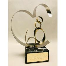 Figura Bodas de Diamante Grabada regalo 60 aniversario
