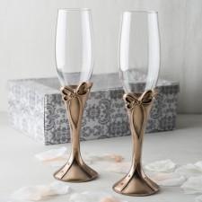 Copas de champagne boda BRONCE