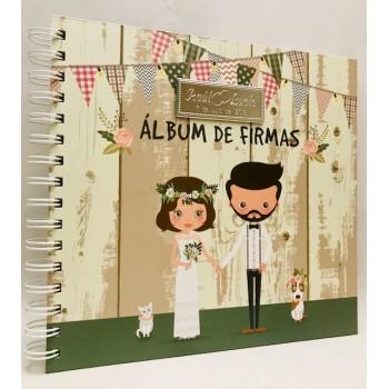 Álbum de firmas para boda grabado