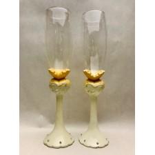 Copas de champagne novias boda chicas