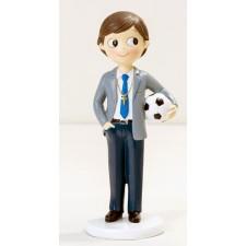 Figuras de comunión niño GRABADAS fútbol