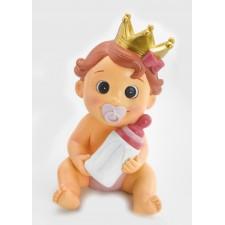 Figura para bautizo de niña tarta HUCHA corona