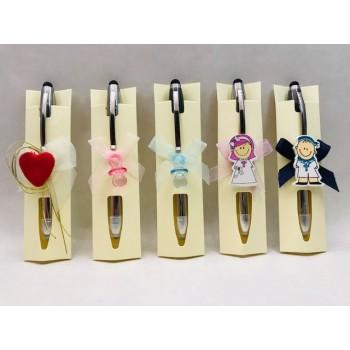 Bolígrafo linterna de Led y puntero para móvil GRABADO invitados