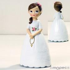 Figuras de comunión niña GRABADAS 858 muñeca tarta