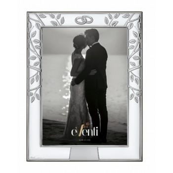 Regalo aniversario boda marco portafotos BAÑO DE PLATA grabado