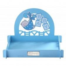 Expositor para entregar regalos de bautizo de niño GRABADO