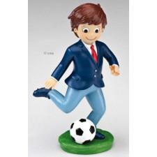 Figura de comunión niño GRABADA futbolista