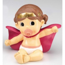 Figura bautizo de niña tarta HUCHA súper-bebé