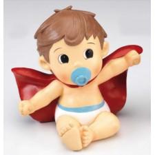 Figura bautizo de niño tarta HUCHA súper-bebé