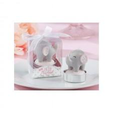 Vela elefante para BAUTIZO de niña