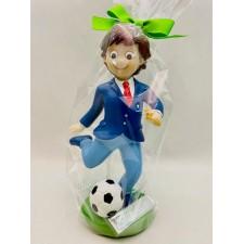 Figura para tarta de comunión niño GRABADA fútbol