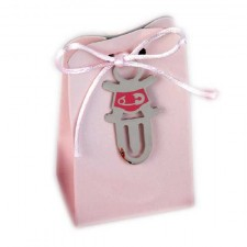 Marcapáginas niña rosa GRABADO + caja peladillas