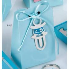 Marcapáginas niño azul GRABADO + caja peladillas