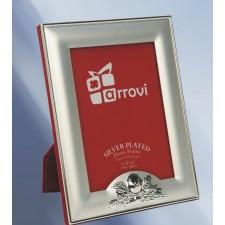 Portafotos comunión grabado silver plated
