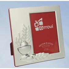 Portafotos comunión grabado silver plated cáliz