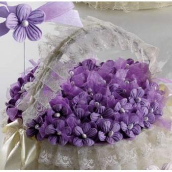 Cesta 72 alfileres boda Flor Lila