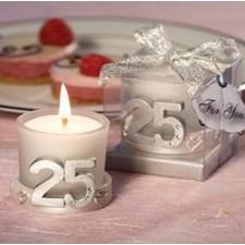 Detalles para invitados bodas de plata VELA