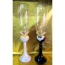Copas de champagne novios busto