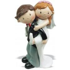 Figura boda tarta novia a caballito Grabada muñecos pastel