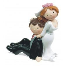 Figuras para boda novio sentado Grabada muñecos tarta