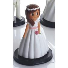 Niña tarta comunión flor princesa GRABADA