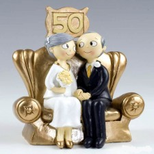 Figura tarta bodas de oro GRABADA 50 aniversario muñecos pastel
