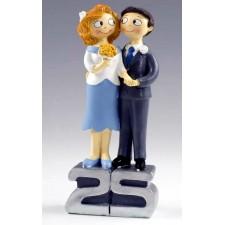Figura bodas de plata GRABADA 25 aniversario