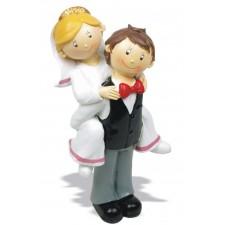 Figura boda novio pajarita Grabada tarta
