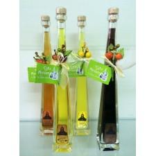 Botellas de orujo surtido de 4 sabores 10cl detalles boda