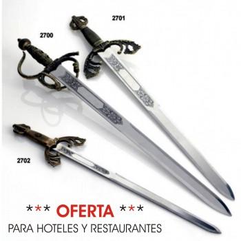 Espadas tarta GRABADAS tizona mediana LOTE 10 UNIDADES