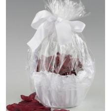 Pétalos para boda color GRANATE + cesta